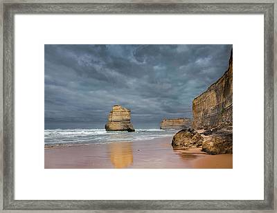The 12 Apostles, Seen From The Beach Framed Print by Martin Zwick