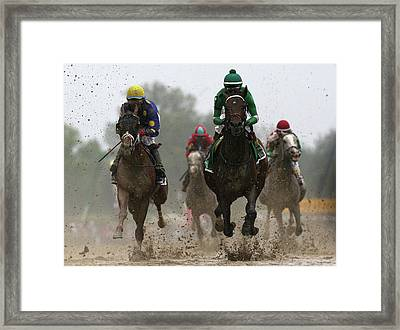 The 141st Running Of The Preakness Framed Print by Rob Carr