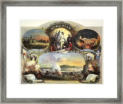 The 14th Regiment New York State Militia Framed Print