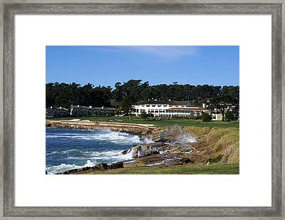 The 18th At Pebble Beach Framed Print by Barbara Snyder