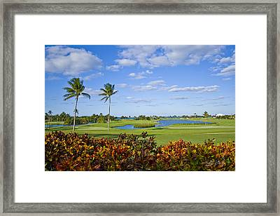The 18th Green At Ocean Club Golf Course Framed Print by Ed Cilley