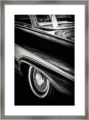 The 1958 Ford Fairlane Framed Print by Martin Bergsma