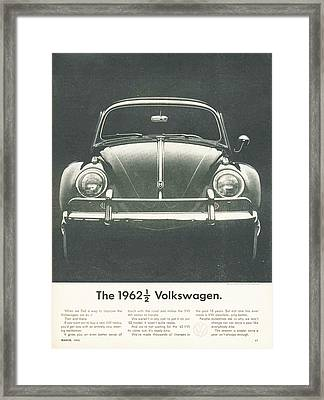 The 1962 Volkswagen Framed Print by Georgia Fowler