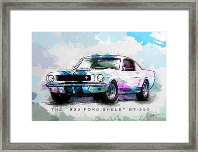 The 1965 Ford Shelby Gt 350  Framed Print