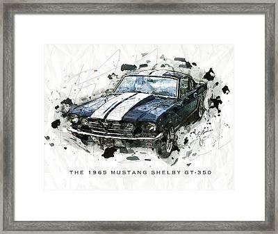 The 1965 Shelby Gto-350 #3 Framed Print