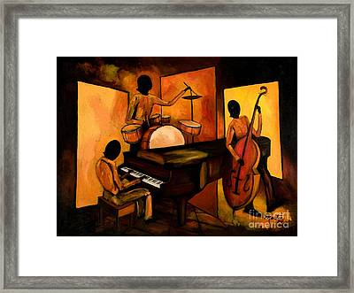 The 1st Jazz Trio Framed Print