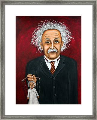 The 2 Einstein's Framed Print by Leah Saulnier The Painting Maniac