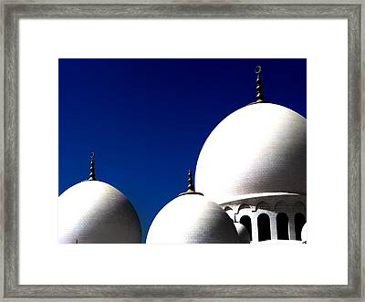 The 3 Domes Framed Print by Peter Waters