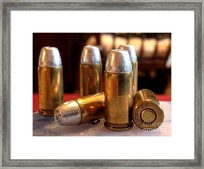 Bullet Art 32 Caliber Hollow Point Bullet 1 Framed Print by Lesa Fine