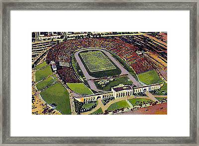 The 33rd Street Stadium In Baltimore Md Around 1940 Framed Print by Dwight Goss
