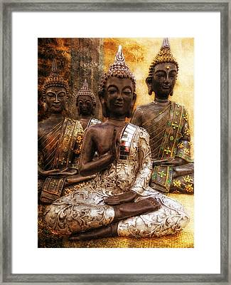 the 4 Buddhas Framed Print