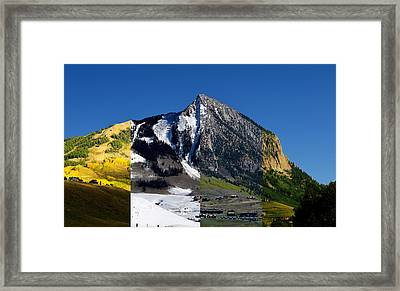 The 4 Seasons In Mt. Crested Butte Framed Print by Mike Schmidt