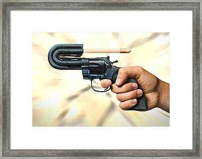 The 44 Magnum Justifier Framed Print by Mike McGlothlen