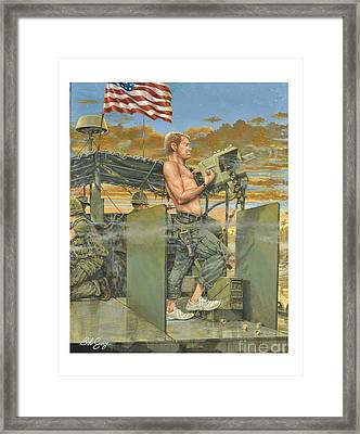 The 458th Transortation Co. In Vietnam. Framed Print