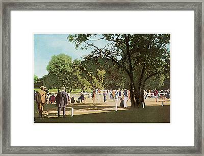 The 500 Metre Race Is Run In  The Bois Framed Print by Mary Evans Picture Library