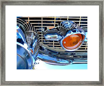 The 57 Chevy Grill Framed Print