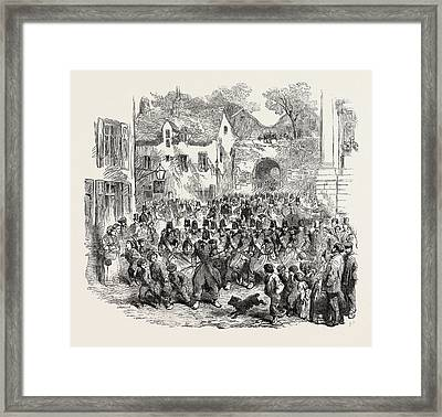 The 5th French Regiment Of The Line Passing Framed Print by English School