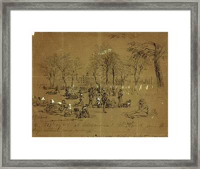 The 71st Reg. N.y. At Alexandria, 1861 May 24-31 Framed Print by Quint Lox