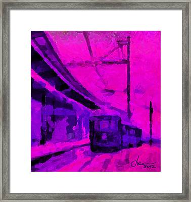 The 7am Train Tnm Framed Print