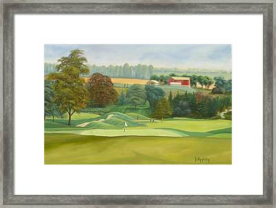 Framed Print featuring the painting The 9th by Jo Appleby