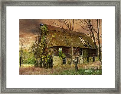 The Abandoned Barn Framed Print by Debra Fedchin