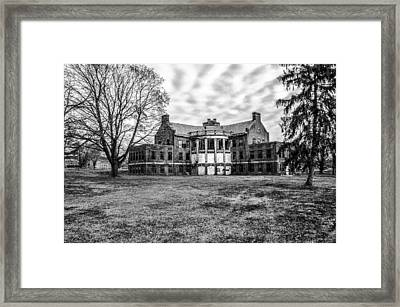The Abandoned Building 17  - Norristown State Hospital In Black  Framed Print