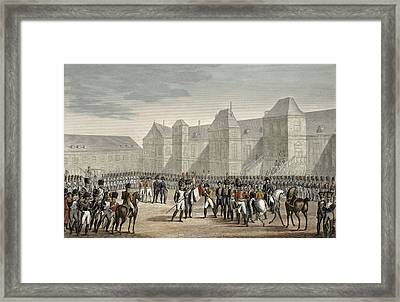 The Abdication Of Napoleon Framed Print