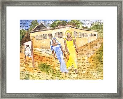 The Abducted Girls Of Chibok Framed Print