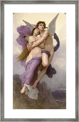The Abduction Of Psyche Framed Print by Adolphe-William Bouguereau