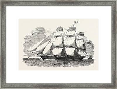 The Abergeldie, Aberdeen Clipper Is A Ship Of 600 Tons Framed Print by English School