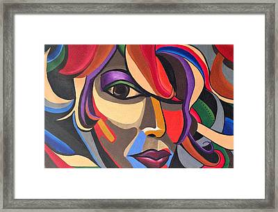 The Abstract Ai - Abstract Painting - Self Portrait - Ai P.nilson Framed Print