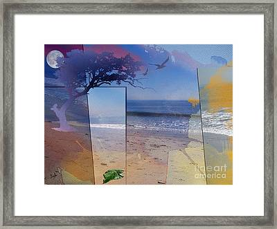 The Abstract Beach Framed Print by Bedros Awak