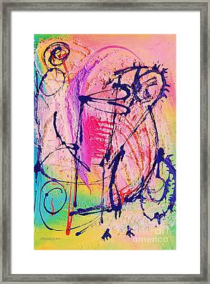 The Abstract Music Makers Framed Print by Ruth Yvonne Ash