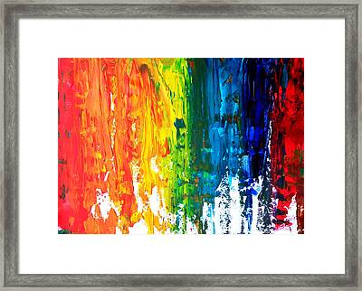 The Abstract Rainbow Beach Series I Framed Print by M Bleichner