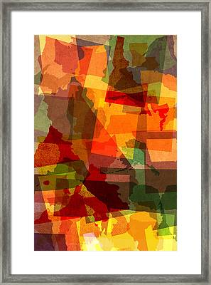 The Abstract States Of America Framed Print