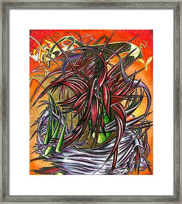 The Abysmal Demon Of Hair Framed Print by Shawn Dall