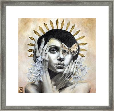 The Abyss Gazes Back Framed Print