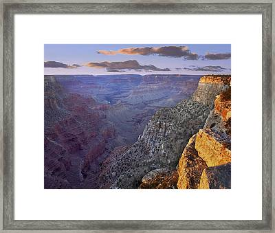 The Abyss Grand Canyon National Park Framed Print by Tim Fitzharris
