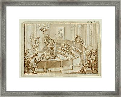 The Accademia Clementina Bologna, With A Nude Framed Print by Litz Collection