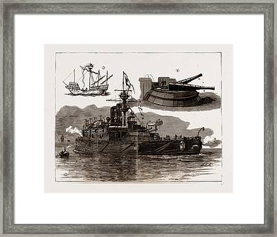 The Accident On Board H.m.s. Collingwood Framed Print