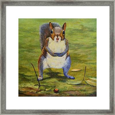 The Acorn Framed Print