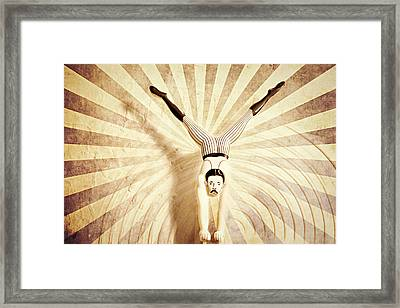 The Acrobat Framed Print by Heike Hultsch