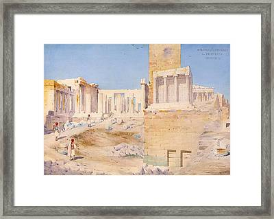 The Acropolis At Athens, 1844 Wc On Paper Framed Print