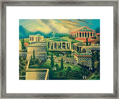 The Acropolis Framed Print