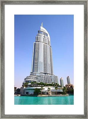 The Address Downtown Dubai Framed Print by FireFlux Studios