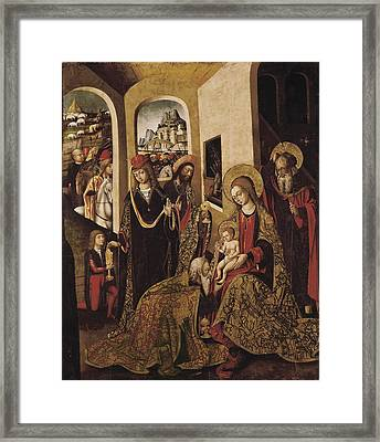 The Adoration Of The Magi. 15th C Framed Print by Everett