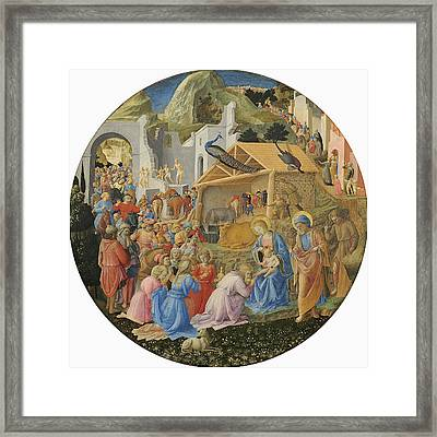 The Adoration Of The Magi, C.1440-60 Tempera On Panel Framed Print by Fra Angelico