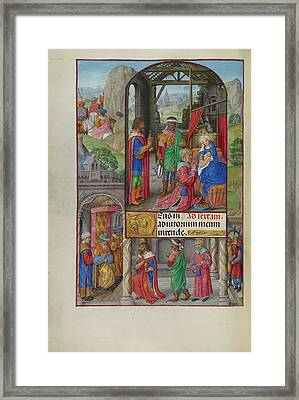 The Adoration Of The Magi Master Of James Iv Of Scotland Framed Print