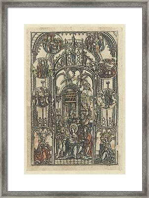 The Adoration Of The Magi, Monogrammist S 16e Eeuw Framed Print