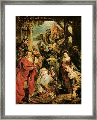 The Adoration Of The Magi Framed Print by Peter Paul Rubens